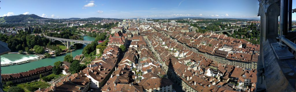 Panorama of Bern from the tower