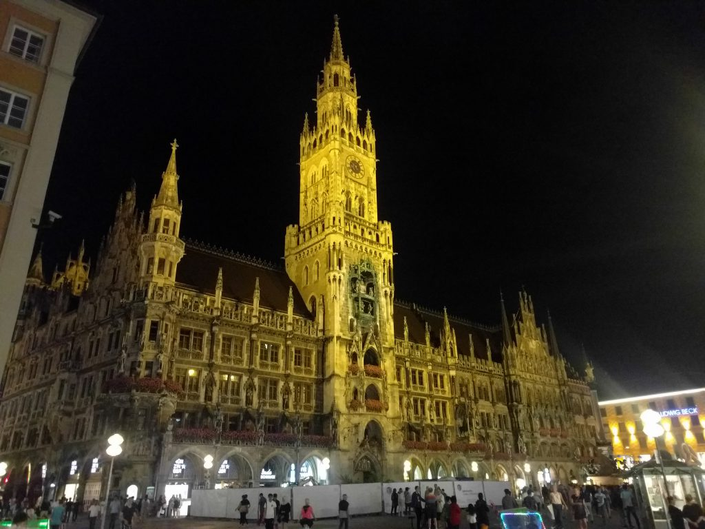 Night Rathaus von Munster