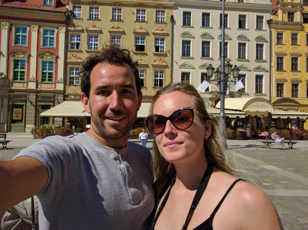 with Elise in Market Square